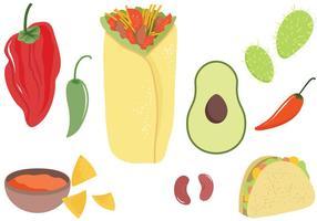 Vecteurs de nourriture mexicains gratuits