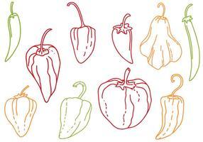 Free Peppers Vectors