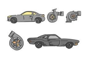 Des vecteurs automobiles gratuits exceptionnels vecteur