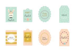 Étiquette de cadeau de printemps vecteur
