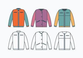 Collection de vestes coupe-vent vecteur