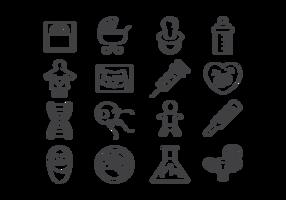 Vecteur d'icônes de maternité