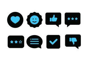 Duotone Témoignages Icon Set vecteur