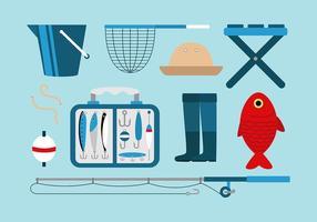 Ensemble de lutte contre la pêche vecteur gratuit