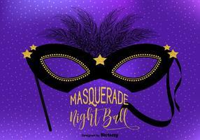 Masquerade Ball Illustration Vectorisée vecteur