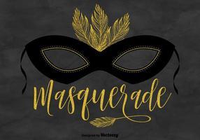 Masquerade mask vector background