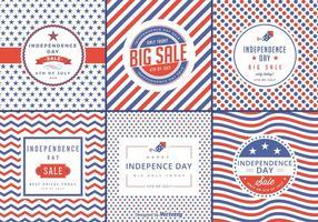Étiquettes vectorielles de vente de la fête de l'indépendance vecteur