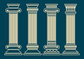 Ensemble vectoriel de pilier corinthien
