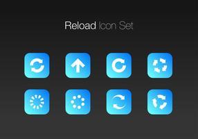 Mettre à jour l'ensemble d'icônes gratuit Vector gratuit