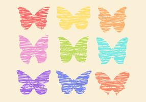 Papillons colorés gratuits vecteur