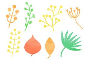 Éléments naturels gratuits d'aquarelle vecteur