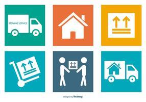 Collection d'icônes de déménagement vecteur