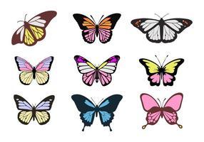 Vecteurs de papillons colorés gratuits