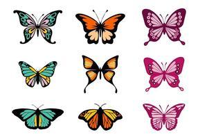 Vecteur de papillons colorés gratuits