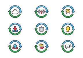 Set d'icônes de mise à jour