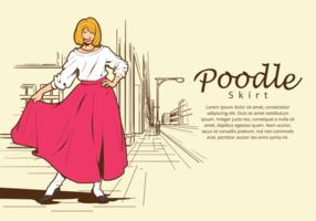 Poodle jupe illustration vectorielle vecteur