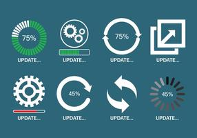 Set d'icônes de mise à jour vecteur