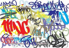 Graffiti Résumé Contexte vecteur