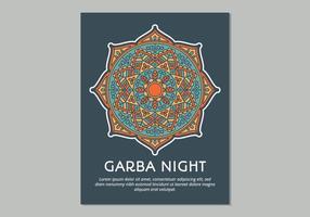 Modèle d'affiche de Garba vecteur