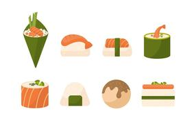 Collection de vecteur de sushi gratuit