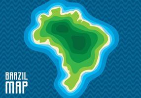 Carte du Brésil vecteur