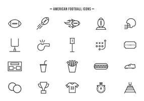 Vecteurs gratuits de football américain