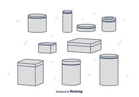 Collection de boîtes en boîte d'étain vecteur