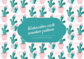 Vector Watercolor Cactus Pattern