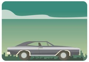 Silver Dodge Charger 1970 Vector