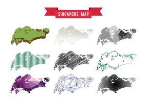 Vector de carte de Singapour