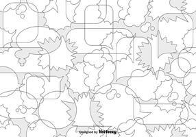 Vector Patterns Bubble Seamless Pattern