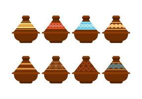 Pack de vecteur de pot de Tajine gratuit