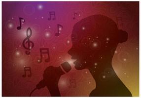 Free Female Singing Vector