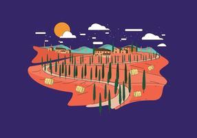 Vecteur Toscane