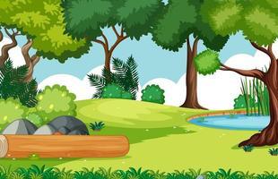 fond vide paysage de parc naturel vecteur
