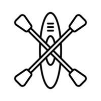 icône de kayak de bateau vecteur