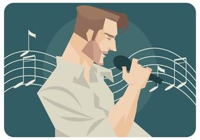 Vecteur chanteur pop