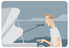 Vecteur pianiste chanteur
