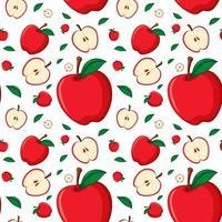 design de fond sans couture avec pomme rouge