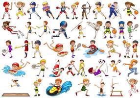 activités sportives par garçons, filles, enfants, athlètes isolés