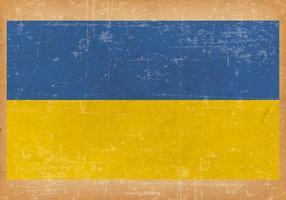 Ancien drapeau grunge de l'Ukraine vecteur