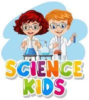 conception de polices pour les enfants de la science des mots vecteur