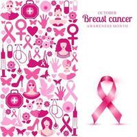 conception du mois de sensibilisation au cancer du sein