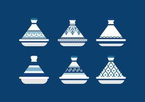 Vecteur libre de céramique de tajine marocain