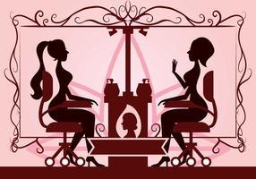 Illustration vectorielle de la clinique de beauté