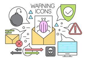 Éléments vectoriels de menaces informatiques linéaires