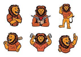 Jeu gratuit de vecteur logo lion