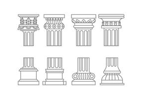 Vecteurs de colonne romaine vecteur