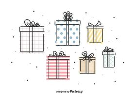 Ensemble de vecteur de cadeaux
