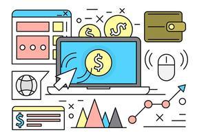 Icônes linéaires gratuites pour le marketing Web vecteur